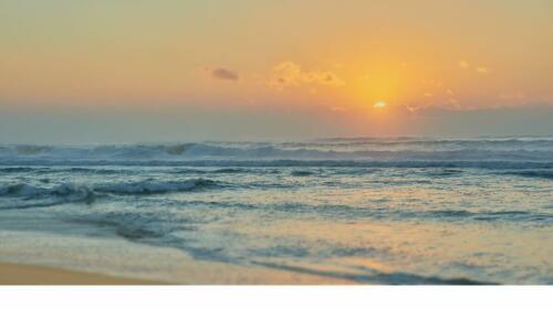 Coucher de soleil plage des Landes